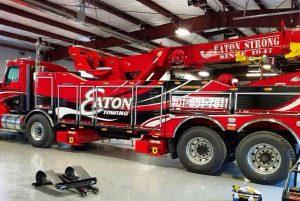 custom tow truck wrap
