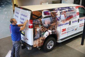 custom vehicle wrap installation